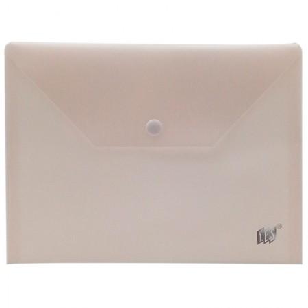 Envelope plástico com botão A5 DB801BC/BG Bege Pastel Yes