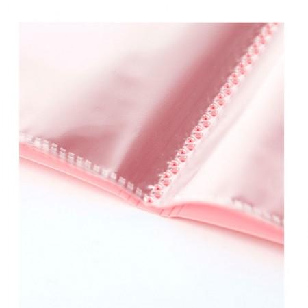 Pasta catálogo - rosa pastel - BD20ABC/RS - com 20 plásticos - Yes