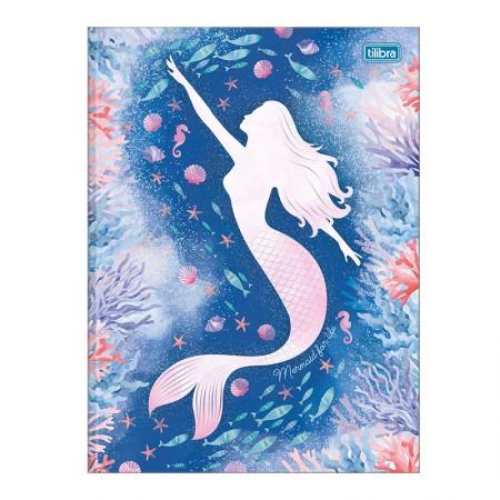 Caderno brochurão capa dura universitário 1x1 - 80 folhas - Wonder sereia - Capa 4 - Tilibra