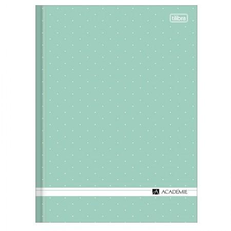 Caderno brochurão capa dura universitário 1x1 - 80 folhas - Academie feminino - Verde pastel - Tilibra