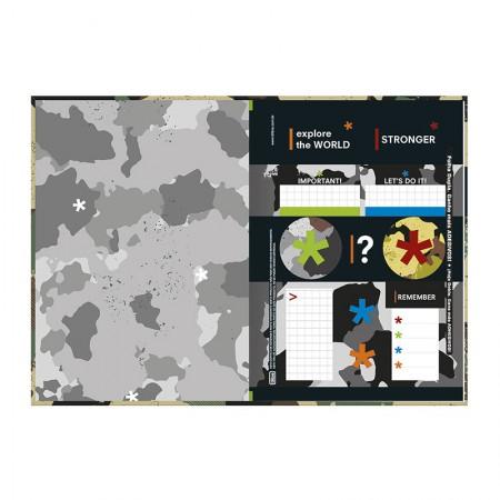 Caderno brochura capa dura 1/4 - 80 folhas - Hide - Capa 4 - Tilibra
