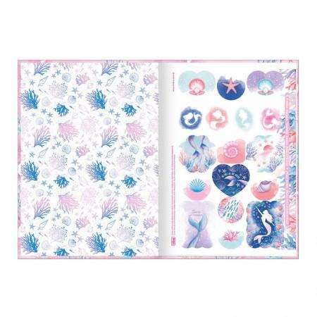 Caderno brochura capa dura 1/4 - 80 folhas - Wonder Sereia - Capa 1 - Tilibra