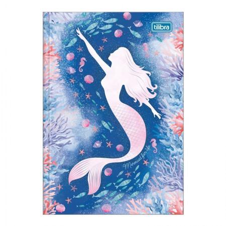 Caderno brochura capa dura 1/4 - 80 folhas - Wonder Sereia - Capa 2 - Tilibra