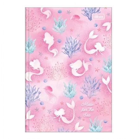 Caderno brochura capa dura 1/4 - 80 folhas - Wonder Sereia - Capa 4 - Tilibra