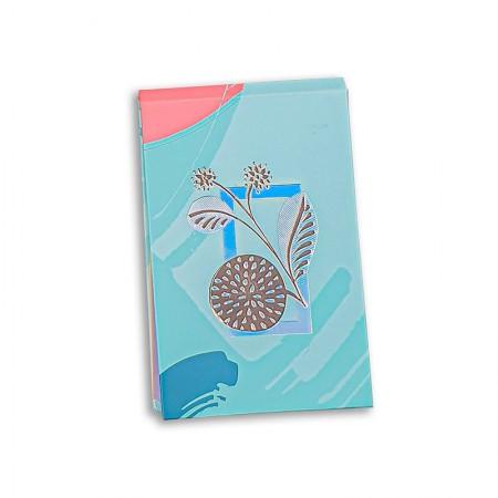 Caderneta capa dura espiral - La Bela - 6210-1 - 80 folhas - Ótima