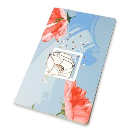 Caderno capa flexível Papertalk Maxi La Bela Azul - 6218-7 - pontilhado - Ótima