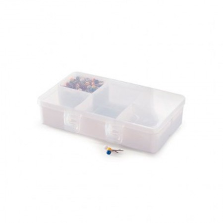 Caixa organizadora de objetos com 5 divisórias - 8667 - Plasútil
