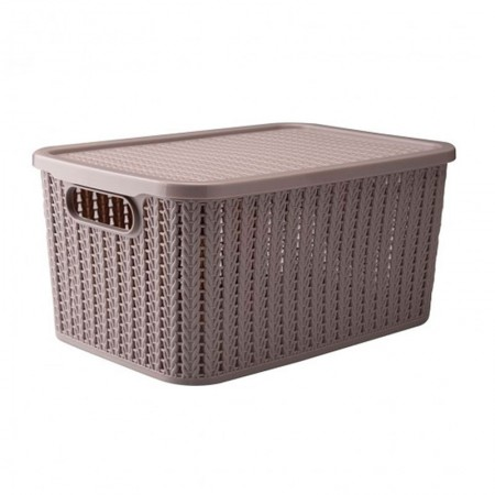 Caixa organizadora retangular - preto - 230 - 14 litros - Plasútil