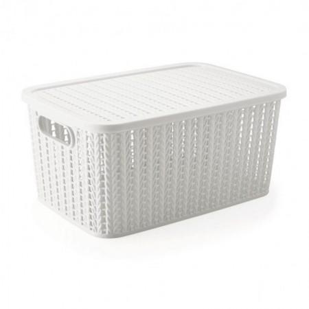 Caixa organizadora retangular - branca - 8649 - 14 litros - Plasútil