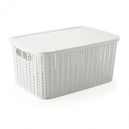 Caixa organizadora retangular branca 8649 14L Plasútil