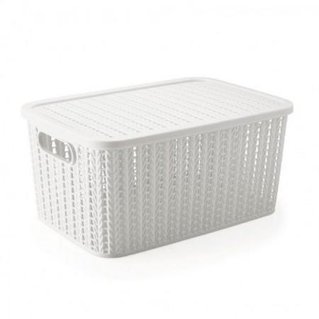 Caixa organizadora retangular - branca - 8 litros - 8648 - Plasútil