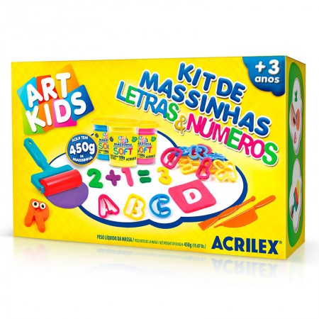 Massinha kit Letras e Números - Art Kids - 40046 - Acrilex