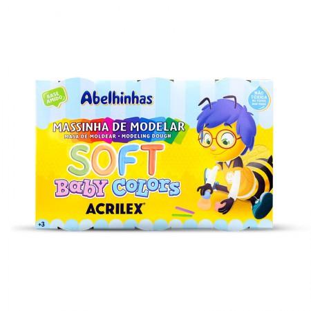 Massinha Soft Baby Colors com 6 cores - 7376 - Acrilex