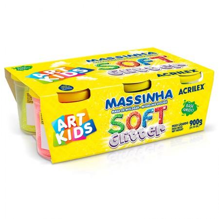 Massinha soft glitter com 6 cores - 7366 - Acrilex