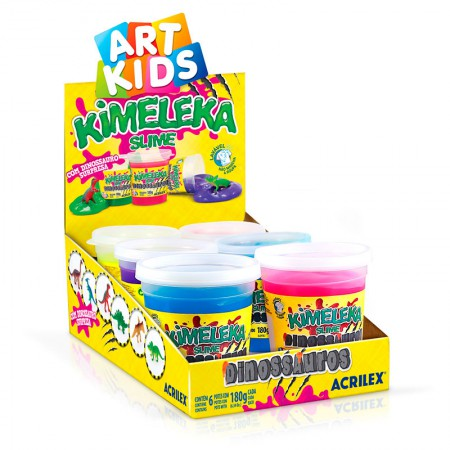 Kimeleka Art Kids com dinossauro surpresa 180g - unidade - Acrilex