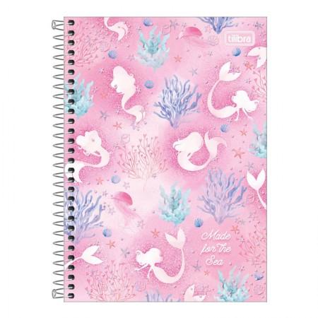 Caderno espiral capa dura 1/4 - 80 folhas - Wonder Sereia - Capa 2 - Tilibra