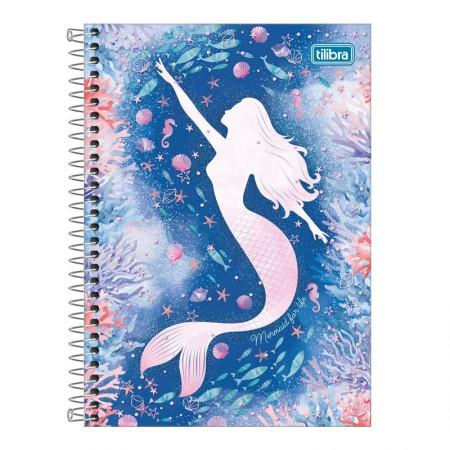 Caderno espiral capa dura 1/4 - 80 folhas - Wonder Sereia - Capa 3 - Tilibra