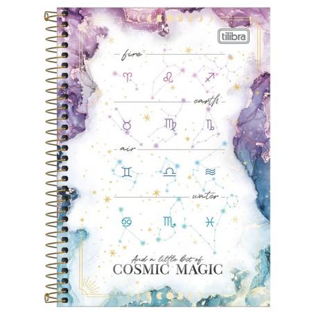 Caderno espiral capa dura 1/4 - 80 folhas - Magic - Capa 2 - Tilibra