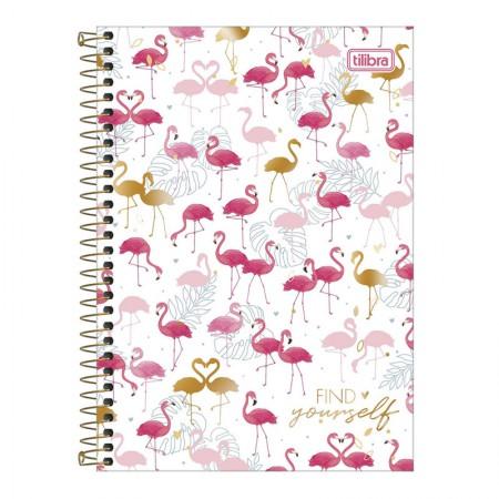 Caderno espiral capa dura 1/4 - 80 folhas - Aloha - Capa 4 - Tilibra