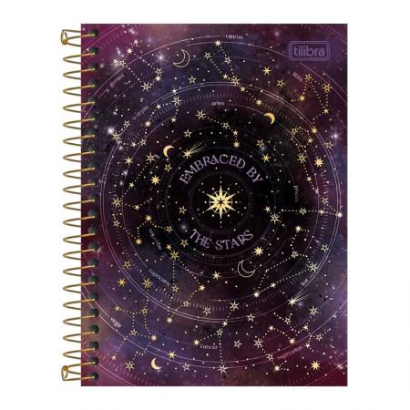 Caderneta espiral capa dura 1/8 - 80 folhas - Magic - Capa 4 - Tilibra
