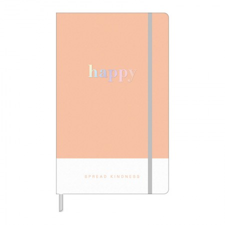 Caderno costurado grande Fitto Happy - pontilhado - 80 folhas - Verde pastel - Tilibra