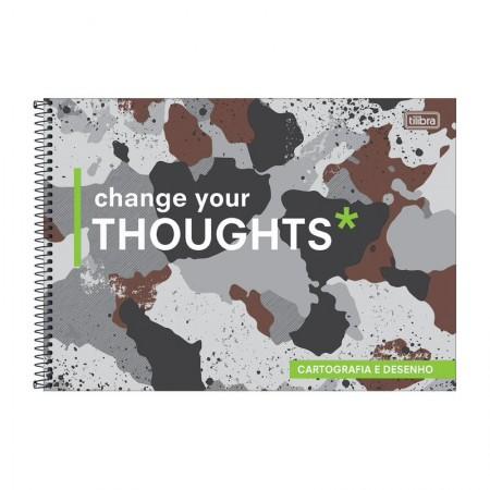 Caderno espiral capa dura cartografia - 80 folhas - Hide - Capa 2 - Tilibra