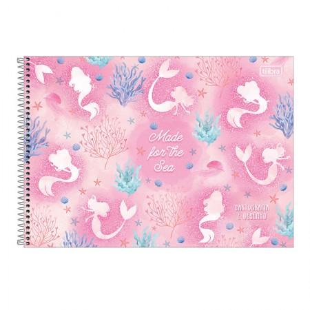 Caderno espiral capa dura cartografia - 80 folhas - Wonder Sereia - Capa 2 - Tilibra