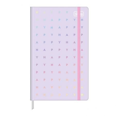 Caderneta capa dura 1/8 Fitto Happy - Sem Pauta - 80 folhas - Verde - Tilibra