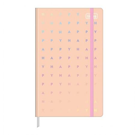 Caderneta capa dura 1/8 Fitto Happy - Sem Pauta - 80 folhas - Verde pastel - Tilibra