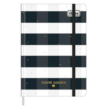 Caderneta capa dura 1/8 Fitto West Village - pontilhado - 80 folhas - Xadrez - Tilibra