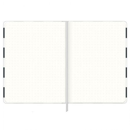 Caderneta capa dura 1/8 Fitto West Village - pontilhado - 80 folhas - Lista - Tilibra