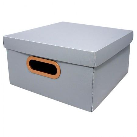 Caixa organizadora média linho - grafite - 2205.G1 - Dello