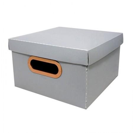 Caixa organizadora pequena linho - grafite - 2204.G1 - Dello