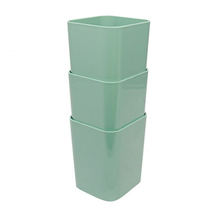 Kit com 3 porta objetos - verde - 6413.V1 - Dello