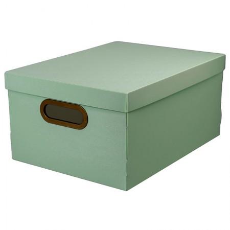 Caixa organizadora média linho - verde - 2192.V1 - Dello