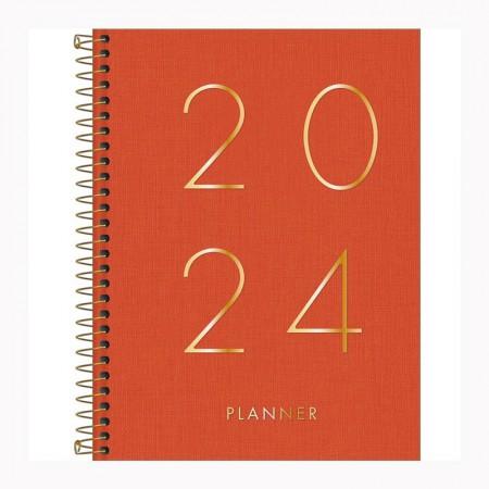 Agenda planner espiral Lume 2021 - Azul Marinho - Tilibra