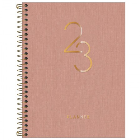 Agenda planner espiral Lume 2021 - Rosa Claro - Tilibra
