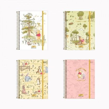 Agenda planner espiral semanal Pooh 2021 - Tilibra