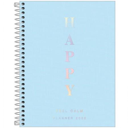 Agenda planner espiral Happy 2020 - Azul - Tilibra