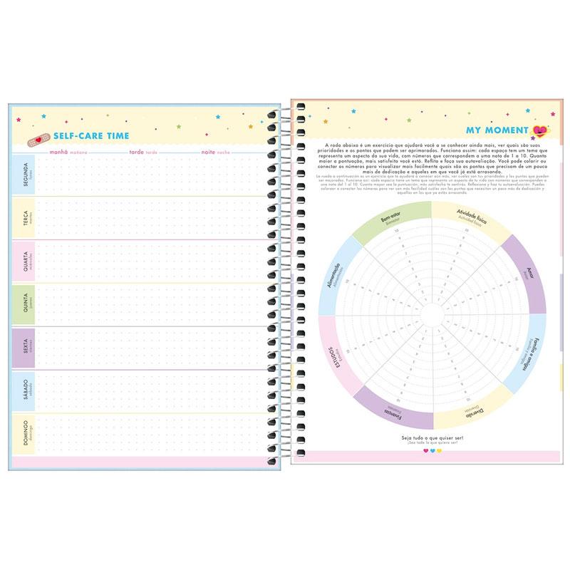 Agenda planner espiral semanal Happy 2022 Verde pastel - Tilibra