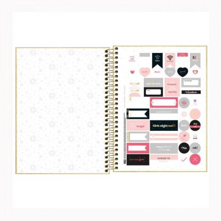 Agenda planner espiral Shine 2022 - Dourado - Tilibra