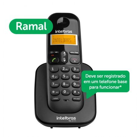 Ramal para telefone sem fio com identificador preto - TS3111 - Intelbras