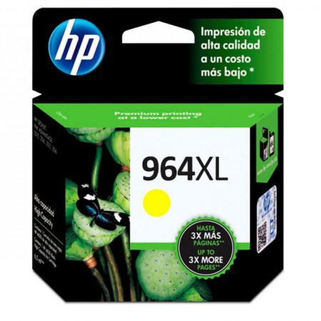 Cartucho HP Original (964XL) 3JA56AL - amarelo rendimento 1600 páginas