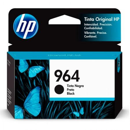 Cartucho HP Original (964) 3JA53AL - preto rendimento 1000 páginas