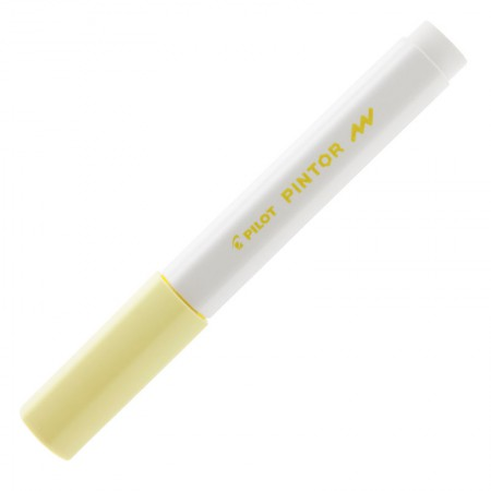 Pincel marcador Pintor ponta fina 1.0mm - amarelo pastel - Pilot
