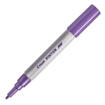 Pincel marcador Pintor ponta fina 1.0mm - violeta metálico - Pilot