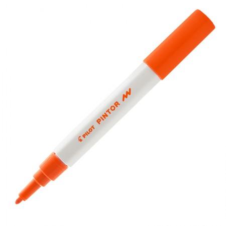Pincel marcador Pintor ponta fina 1.0mm - laranja - Pilot