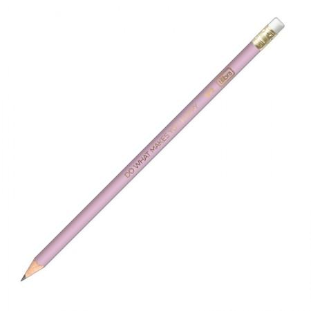 Lápis preto nr 2 Happy Lilás com borracha - 304620/LL - Tilibra