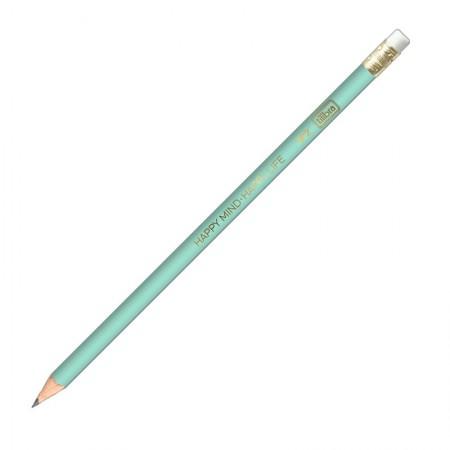 Lápis preto nr 2 Happy Verde com borracha - 304620/VD - Tilibra