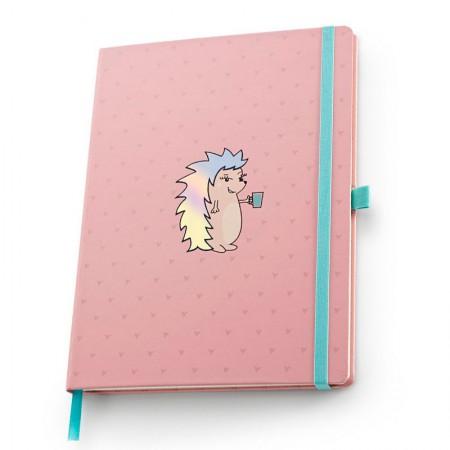 Caderno capa dura Papertalk Ultra Riccio Rosa - 5970-5 - pontilhado - Ótima